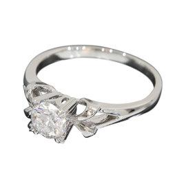 Mikimoto Platinum Pt950 0.53ct Diamond Band Ring Size 6