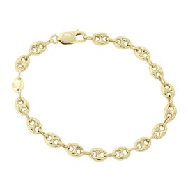 Gucci 18K Yellow Gold Italy Puffed Link Bracelet