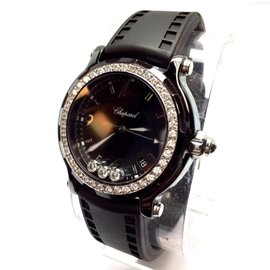 Chopard Happy Sport Stainless Steel with Floating Diamonds 38.5mm Womens Watch