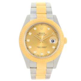 Rolex Datejust II 116333 Stainless Steel & 18K Yellow Gold Diamond 41mm Mens Watch