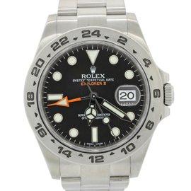 Rolex Explorer II 216570 Black Orange Steel GMT Date 42mm Mens Watch 2013