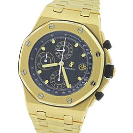 Audemars Piguet Royal Oak 25721BA.OO.1000BA.02.A 18K Yellow Gold with Navy Blue Dial 42mm Mens Watch