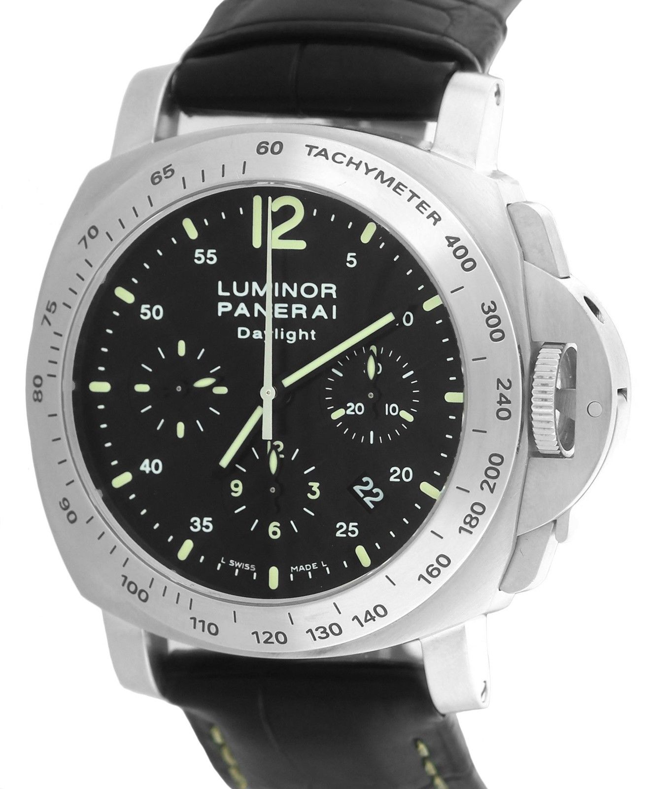 """Image of """"Panerai Luminor Pam00250 Stainless Steel with Black Dial 44mm Mens"""""""