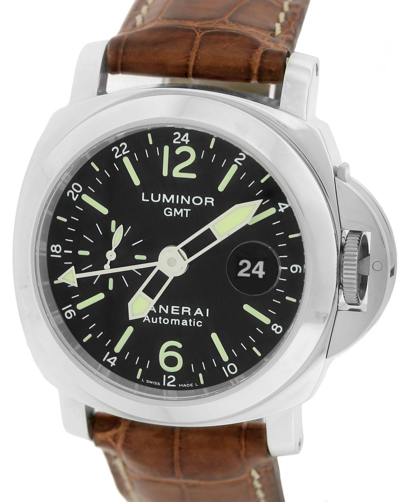 """Image of """"Panerai Luminor Pam00237 Stainless Steel / Leather with Black Dial"""""""