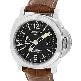 Panerai Luminor PAM00237 Stainless Steel / Leather with Black Dial 44mm Mens Watch