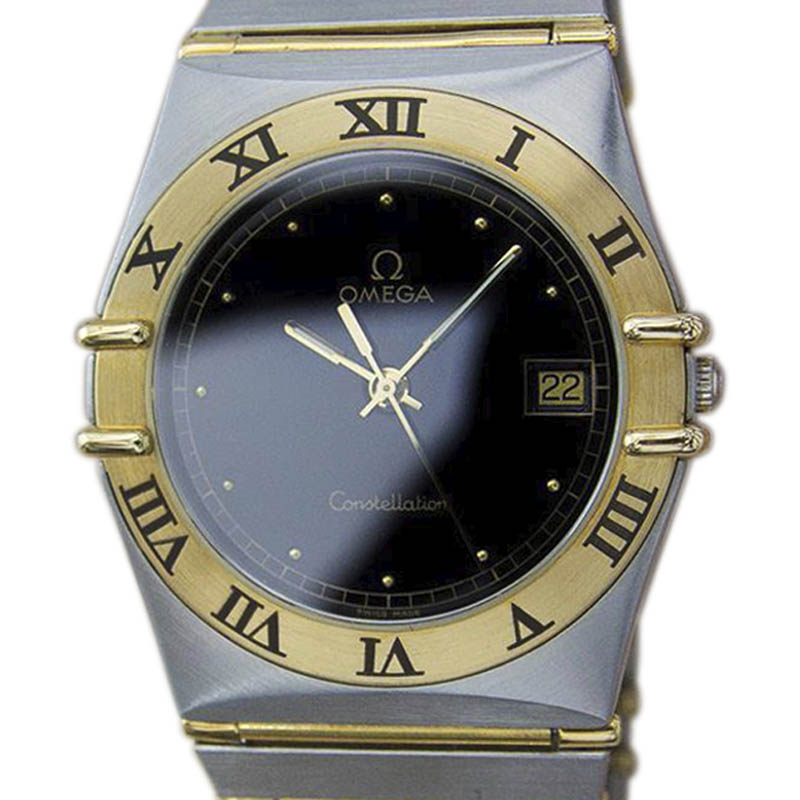 "Image of ""Omega Constellation 18K Gold & Stainless Steel Quartz 34mm Men's Watch"""