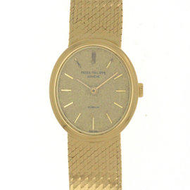 Patek Philippe 18K Yellow Gold Manual Vintage 20mm Womens Watch
