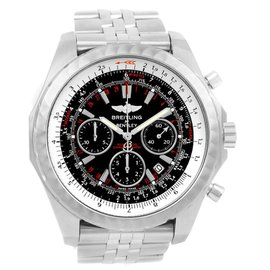 Breitling Bentley A25365 Stainless Steel & Black Dial 49mm Mens Watch
