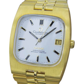 Omega Constellation MX48 Gold Plated & Stainless Steel with White Dial Vintage 36mm Mens Watch