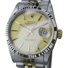 Rolex Datejust 16013 Stainless Steel anfd 18K Yellow Gold Vintage 36mm Mens Watch