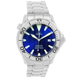 Omega Seamaster 2265.80.00 Electric Blue Dial Stainless Steel 41mm Mens Watch