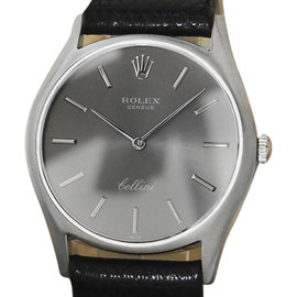 Rolex Cellini 18K White Gold Vintage 32mm Mens Watch