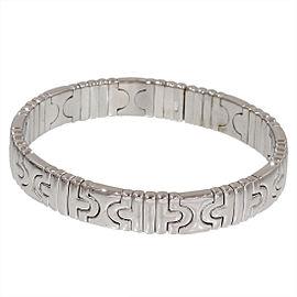 Bulgari 18K White Gold Parentesi Design Bracelet Bangle