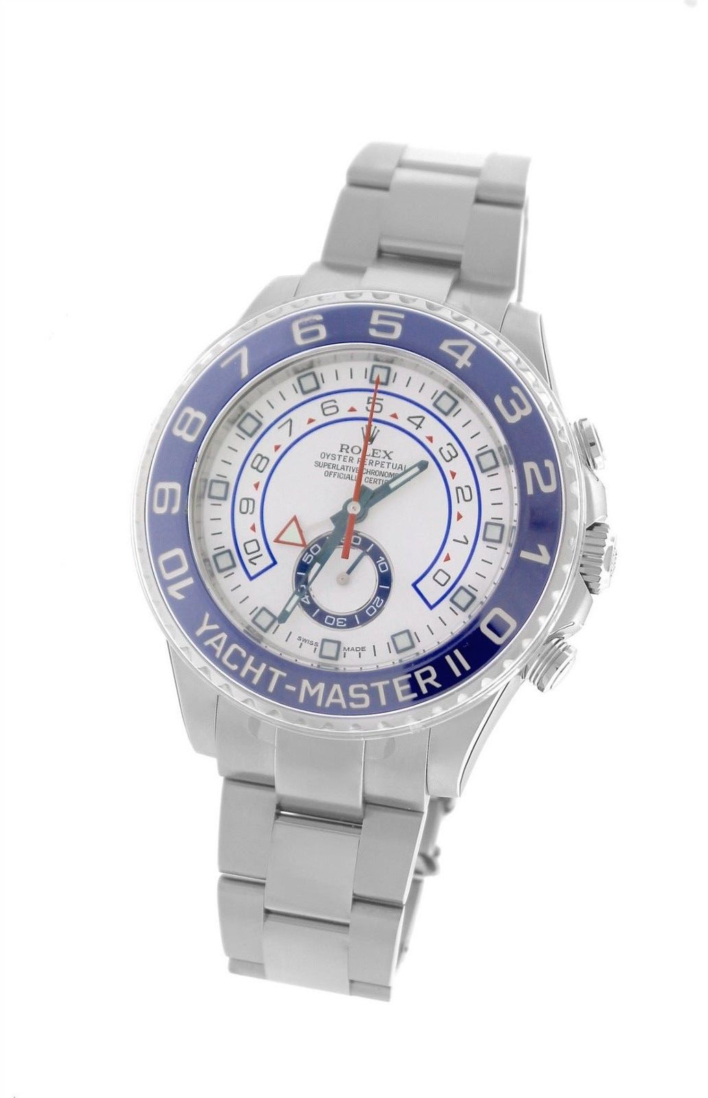 """Image of """"Rolex Yacht-Master II 116680 Stainless Steel 44mm Mens Watch"""""""