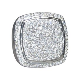 David Yurman Albion 925 Sterling Silver with 2.65ct Diamond Ring Size 6.5