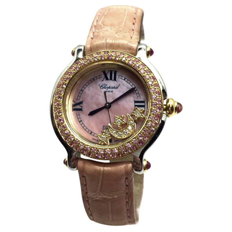 "Image of ""Chopard Happy Sport 18K Yellow Gold / Stainless Steel Womens Watch"""