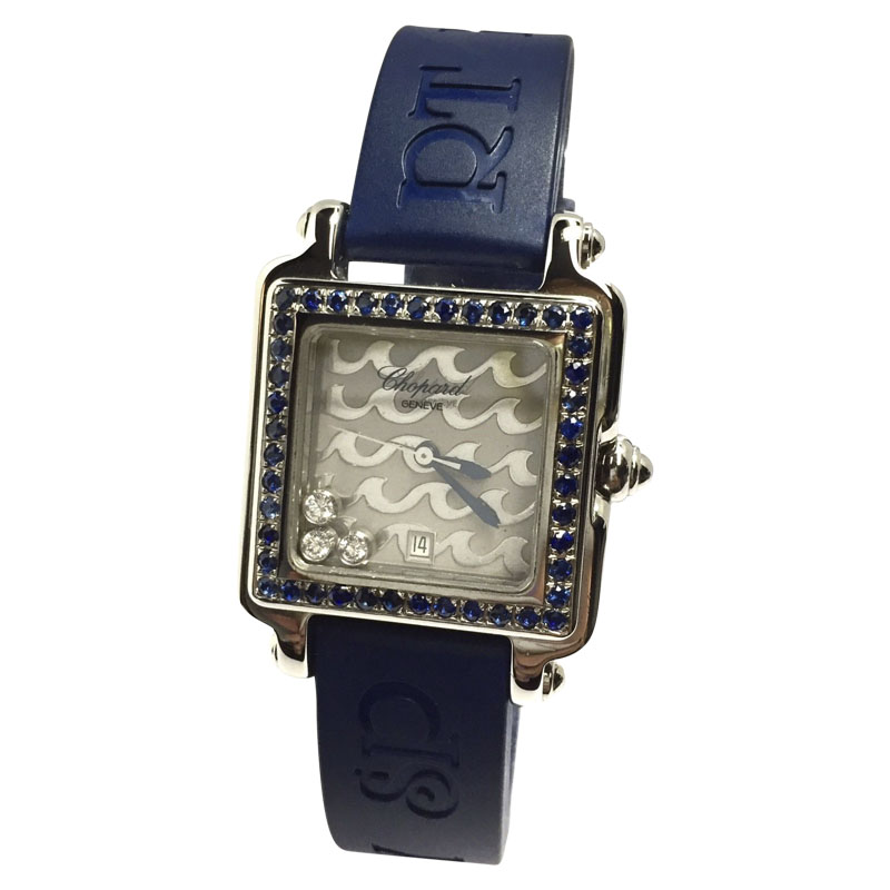"""Image of """"Chopard Be Happy 2 Stainless Steel / Rubber 27.4mm Womens Watch"""""""