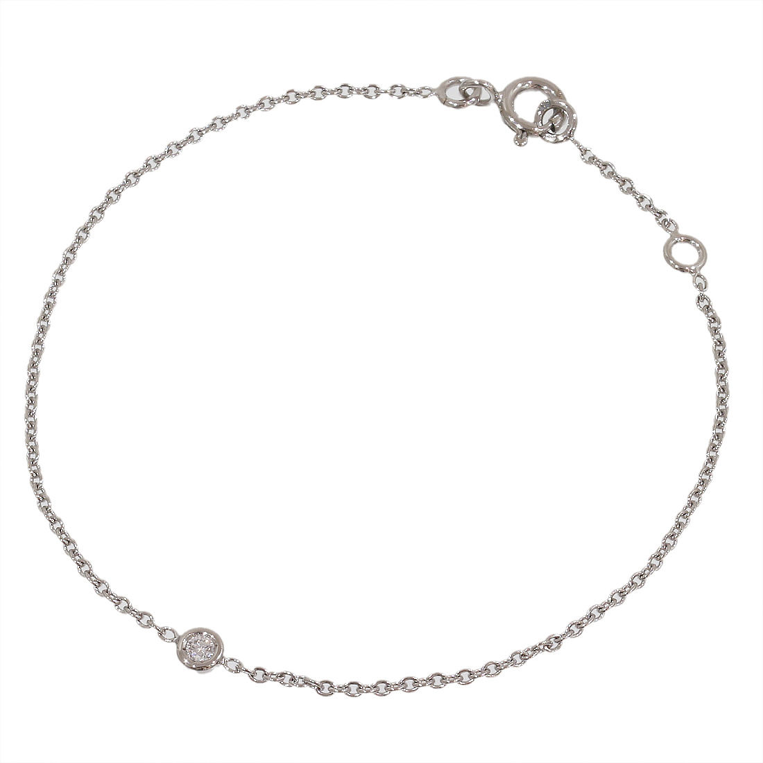 "Image of ""Christain Dior 18K White Gold Mimi Oui Diamond Bracelet"""