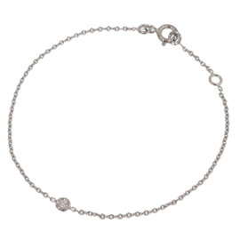 Christain Dior 18K White Gold Mimi Oui Diamond Bracelet