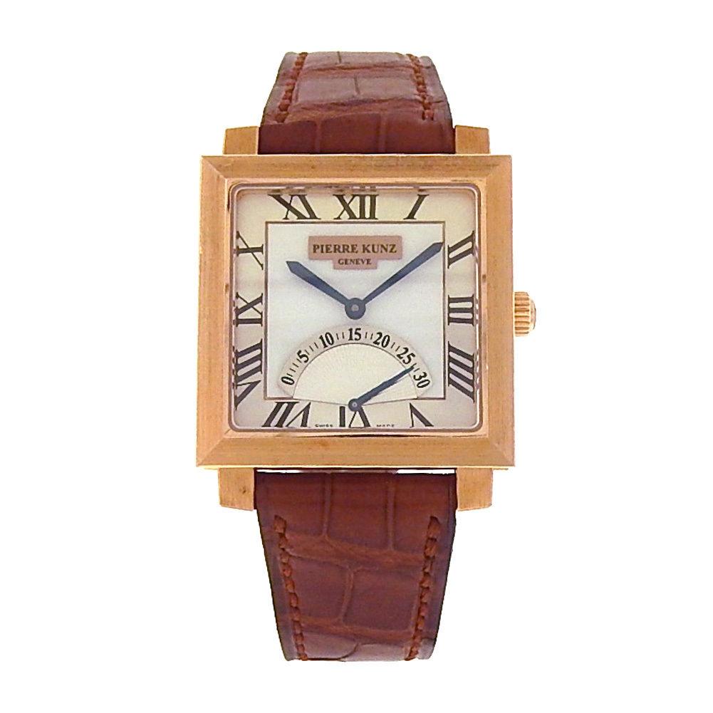 """Image of """"Pierre Kunz Spirit of Challenge E Q01 SR 18K Rose Gold Brown Leather"""""""