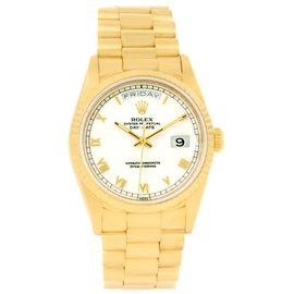 Rolex President Day-Date 18238 18K Yellow Gold 36mm Mens Watch