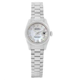 Rolex President Datejust 179179 18K White Gold 26mm Womens Watch