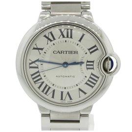Cartier Ballon Bleu 3284 Stainless Steel & Silver Roman Dial 36mm Unisex Watch