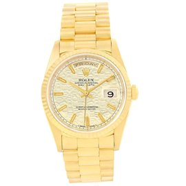 Rolex President Day-Date 18238 18K Yellow Gold Anniversary Dial 36mm Mens Watch