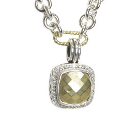 David Yurman Albion 18K Yellow Gold & Sterling Silver Diamond Pendant