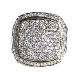David Yurman Albion 18K Yellow Gold 1.50ct. Diamond Ring Size 7