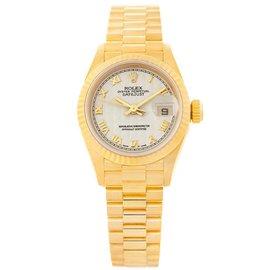 Rolex President Datejust 69178 18K Yellow Gold 26mm Womens Watch