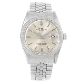 Rolex Datejust 1603 Silver Baton Dial Stainless Steel 36mm Mens Watch