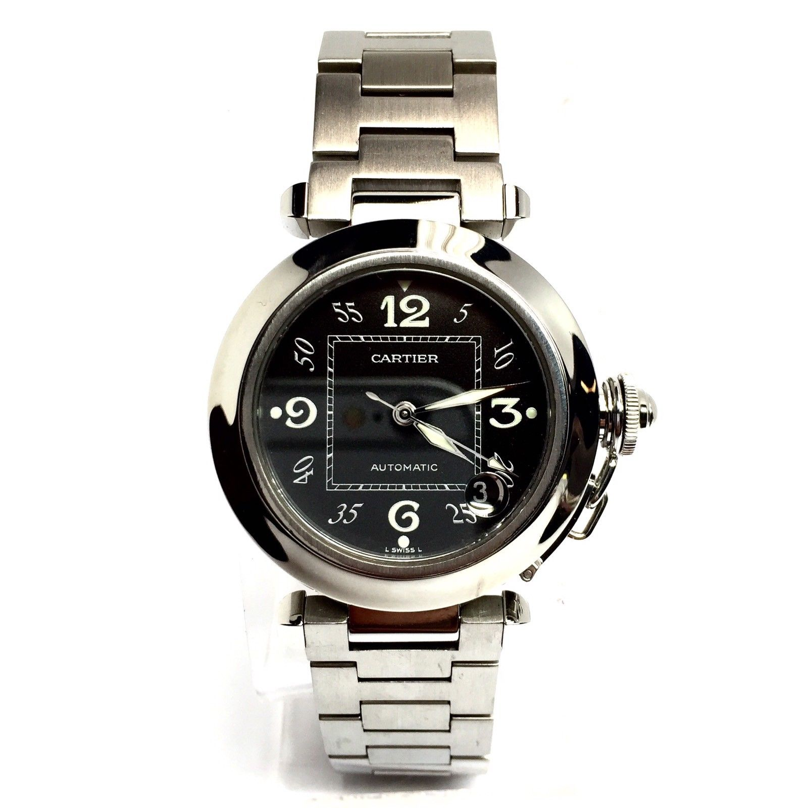 "Image of ""Cartier Pasha De Stainless Steel 35.5mm Unisex Watch"""