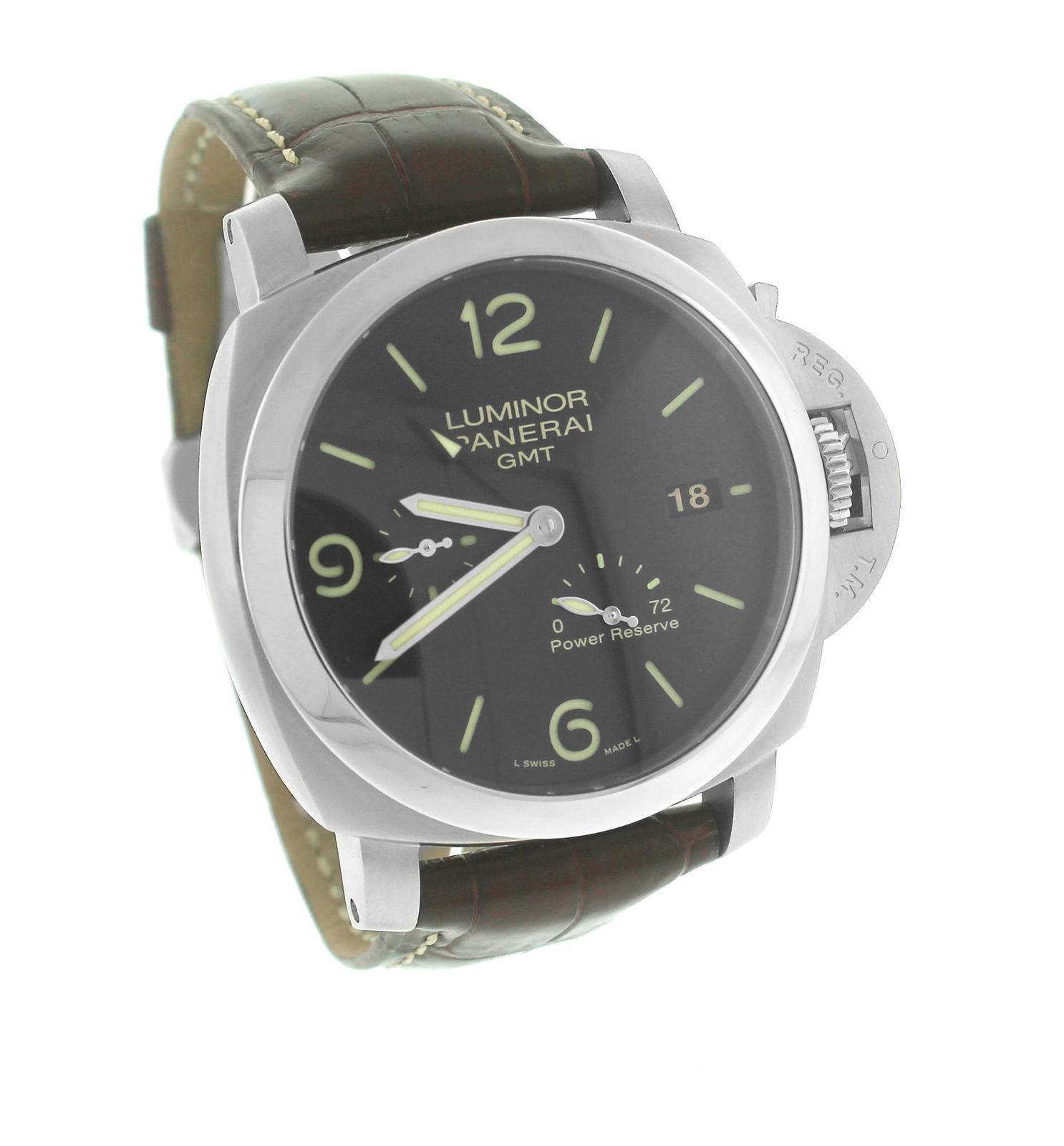 "Image of ""Panerai Luminor PAM 00321 Stainless Steel Automatic 44mm Mens Watch"""