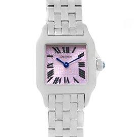 Cartier Santos Demoiselle W2510002 Stainless Steel & Purple Dial 20mm Womens Watch