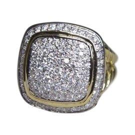 David Yurman Albion 18K Yellow Gold with 1.14ct Diamond Ring Size 7