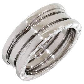 Bulgari Bvlgari B.Zero1 18K White Gold Band Ring Size 9.25