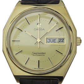 Omega Seamaster Gold Plated Swiss Auto 36mm Mens Watch 1970s