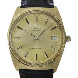 Omega Seamaster Stainless Steel & Gold Plated Automatic Mens 35mm Watch 1970s