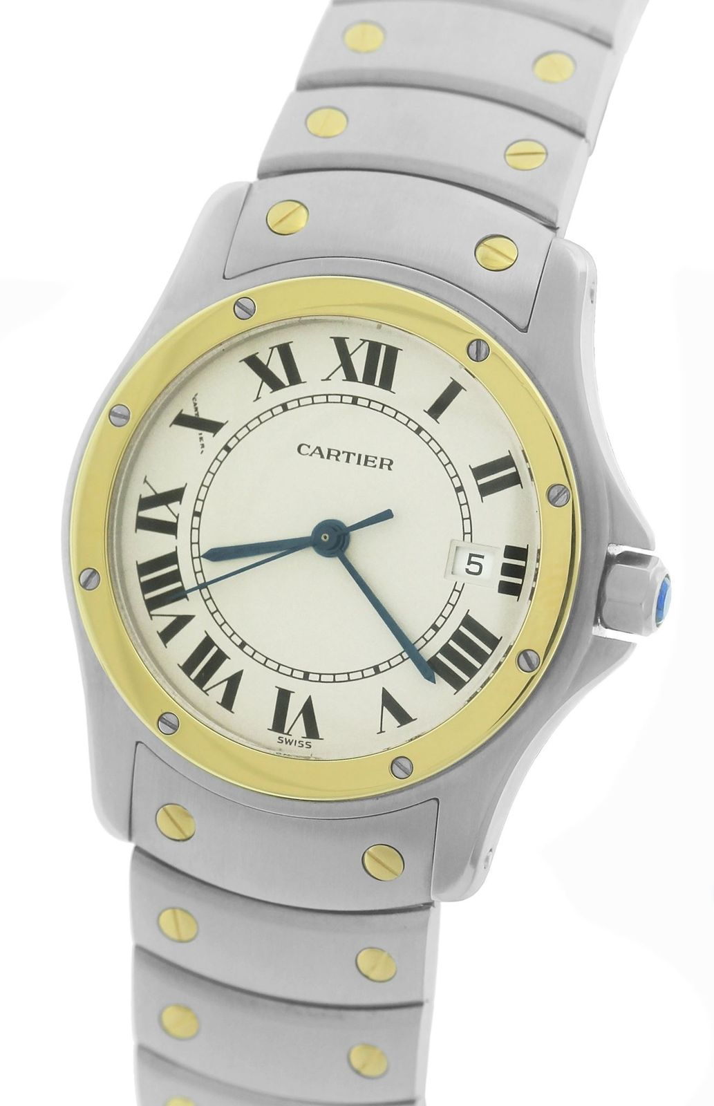 """Image of """"Cartier Santos Ronde W20037R3 1551 Stainless Steel & 18K Yellow Gold"""""""