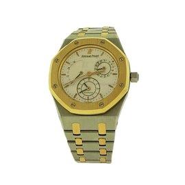 Audemars Piguet Royal Oak 18K Yellow Gold & Stainless Steel Dual Time 37mm Mens Watch