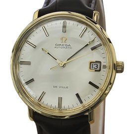 Omega DeVille Gold Plated Swiss Mens Automatic 35mm Mens Dress Watch 1960s
