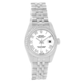 Rolex Datejust 179174 Stainless Steel White Gold White Dial 26mm Womens Watch