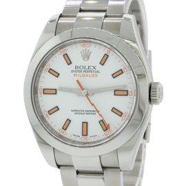 Rolex Milgauss 116400 Stainless Steel White Dial 40mm Mens Watch