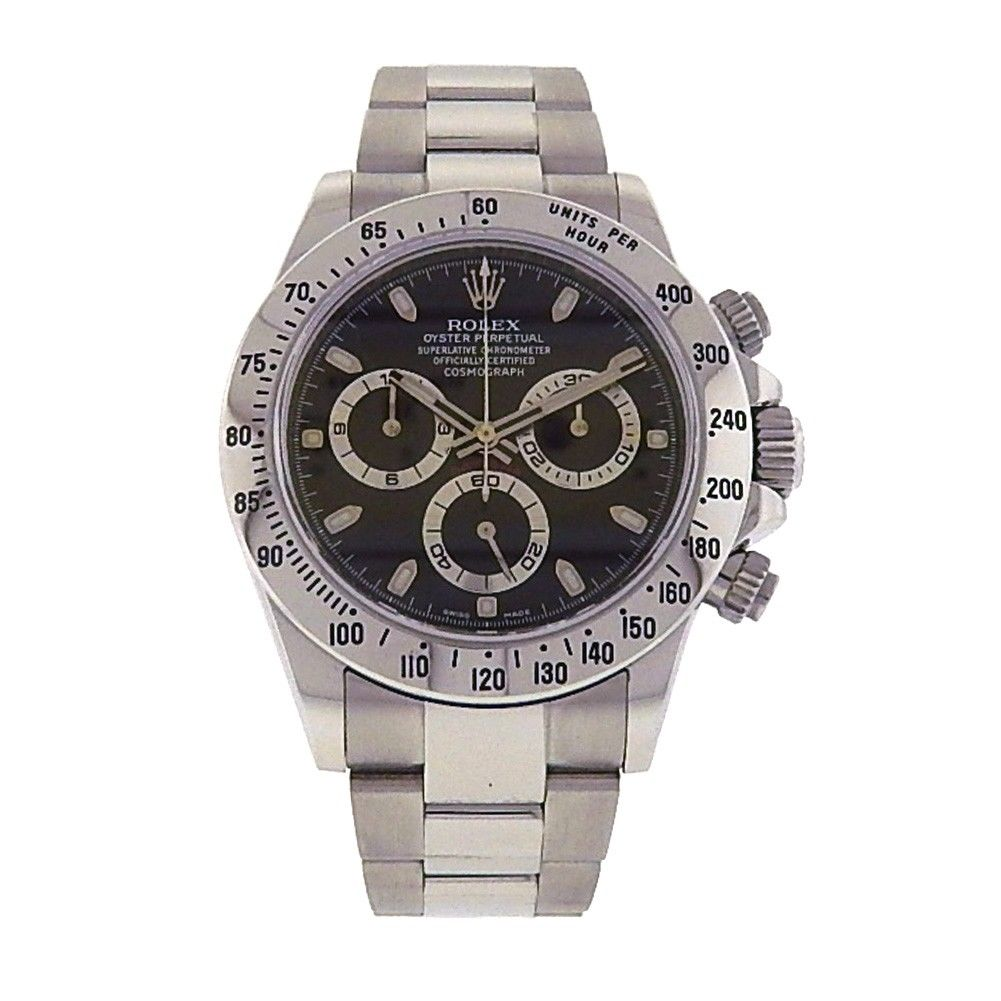 "Image of ""Rolex Daytona 116520 Stainless Steel Chronograph Automatic Oyster"""
