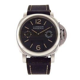 Panerai Luminor Marina PAM00590 Stainless Steel Brown Leather 44mm Mens Watch