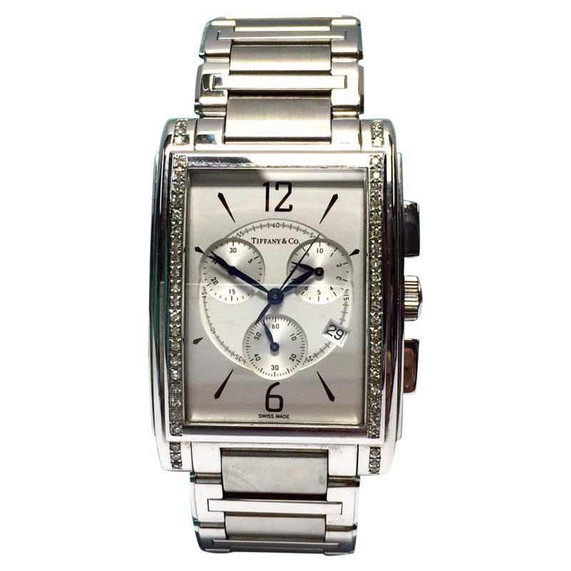 "Image of ""Tiffany & Co. Stainless Steel 33.5mm Unisex Watch"""