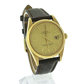 Rolex Datejust 15038 18K Yellow Gold Champagne Fluted 34mm Unisex Watch
