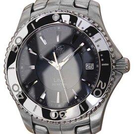 Tag Heuer Link Stainless Steel Black Dial Quartz 39mm Men's Watch