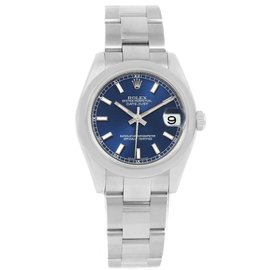 Rolex Datejust 178240 Stainless Steel Blue Dial Automatic 31mm Womens Watch